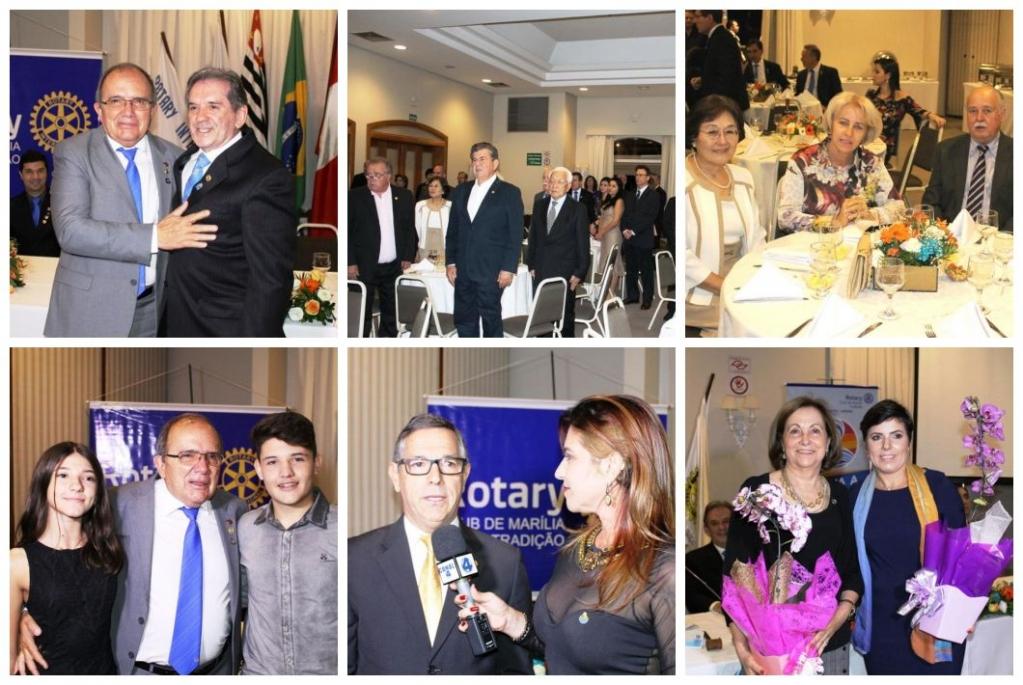 Giro Marília -Nelson Tamura assume Rotary Tradição com homenagens, emoção e projetos
