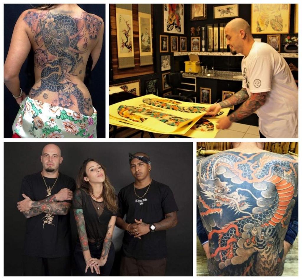 Giro Marília -Estúdio de Marília faz arte em tatuagens com tradições e técnicas do Japão
