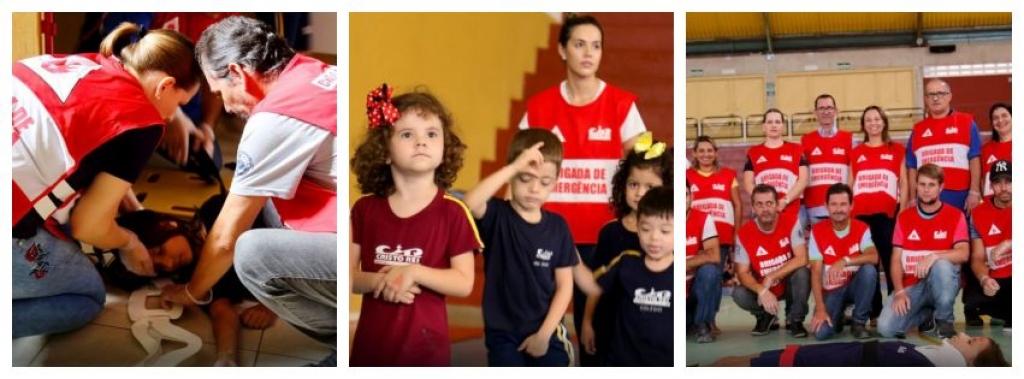 Giro Marília -Simulado - Alunos do Cristo Rei participam de treinamento de segurança
