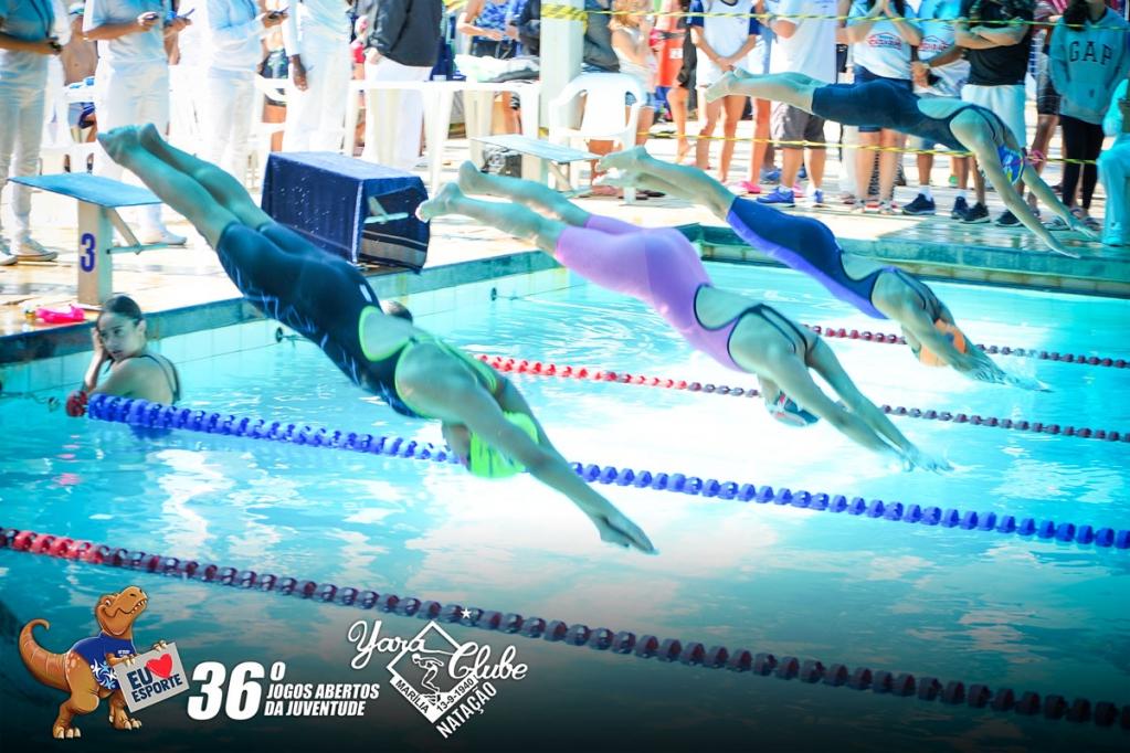 Giro Marília -Yara recebe dezenas de atletas nos Jogos da Juventude; natação reúne cem