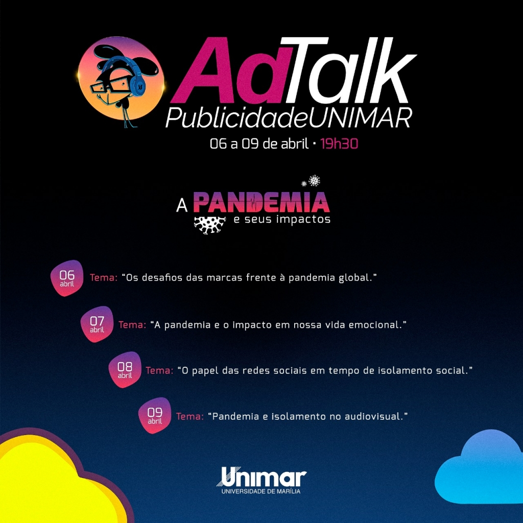 Giro Marília -Curso de Publicidade da Unimar faz semana de debate sobre coronavírus