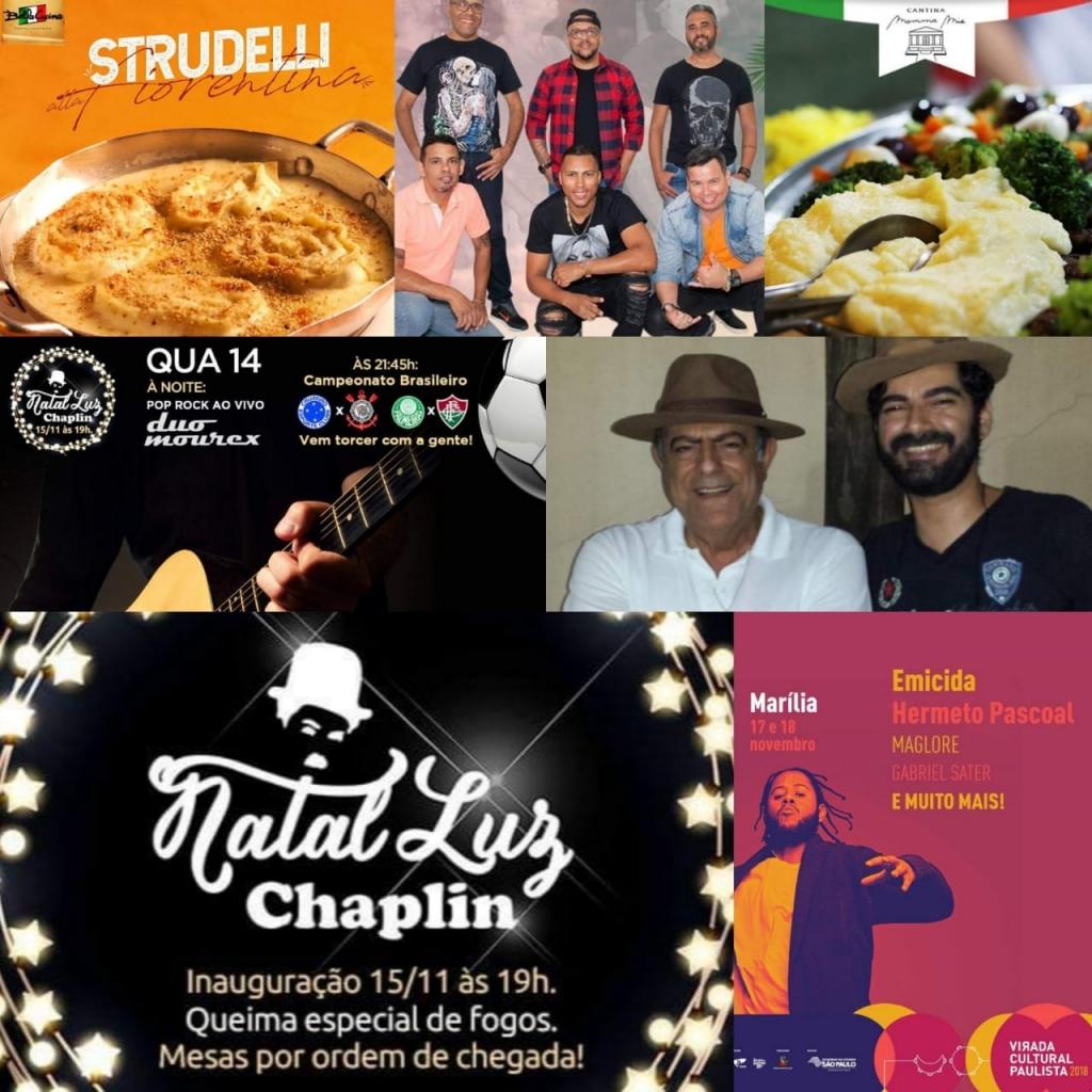 Giro Marília -Virada Cultural, música e o melhor da gastronomia no feriado prolongado