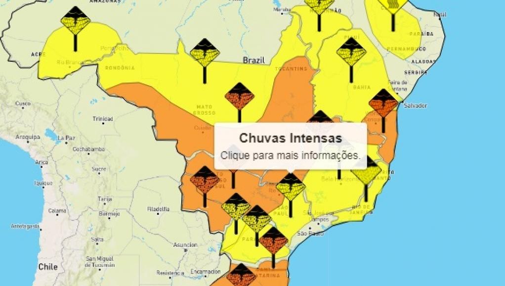 Giro Marília -Meteorologia faz alerta de chuvas fortes e inclui Marília e região; veja previsões