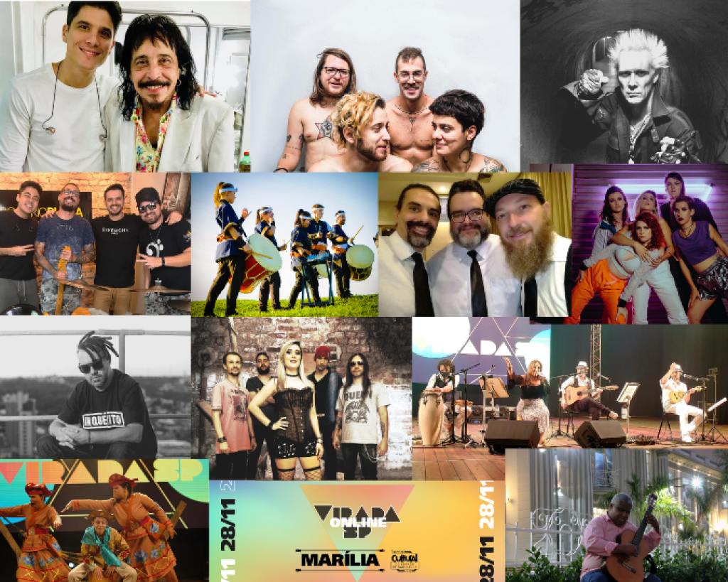 Giro Marília -Virada Cultural terá evento online com nomes nacionais e artistas de Marília