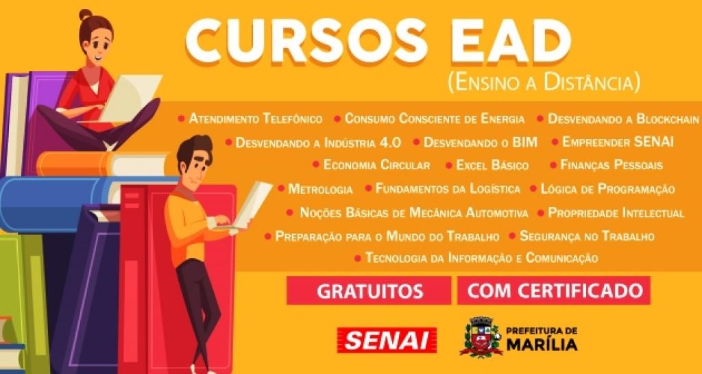 Senai E Prefeitura Abrem Inscricoes Para 17 Cursos Profissionais Online Gratuitos Noticias Sobre Trabalho Giro Marilia Noticias