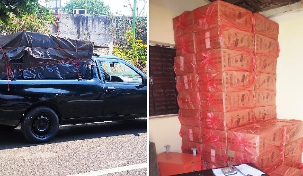 Giro Marília -Polícia descobre depósito e apreende 43 mil maços de cigarros em Marília