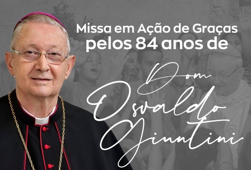 Giro Marília -Missa celebra 84 anos de Dom Osvaldo, bispo emérito de Marília