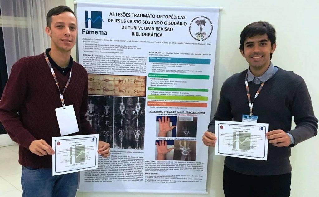 Giro Marília -Alunos e docentes da Famema estudam lesões de Jesus em Sudário