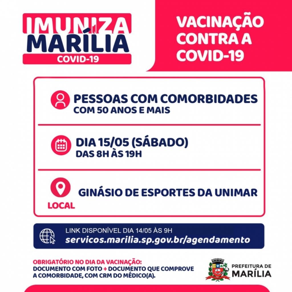 Giro Marília -Sobram vagas e Marília prorroga cadastro de vacina para pessoas com comorbidades