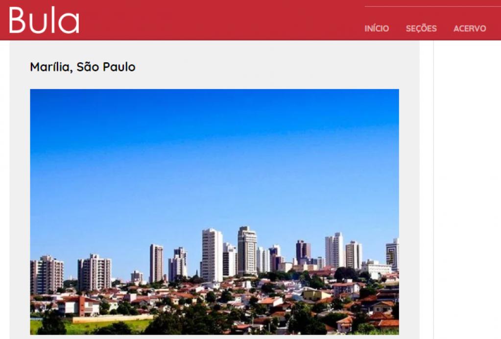 Giro Marília -Revista põe Marília entre cidades 'mais felizes' do país