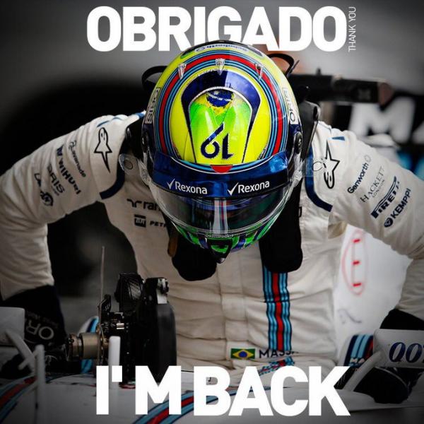 Giro Marília -Após dois meses de aposentadoria, Felipe Massa retorna à F1