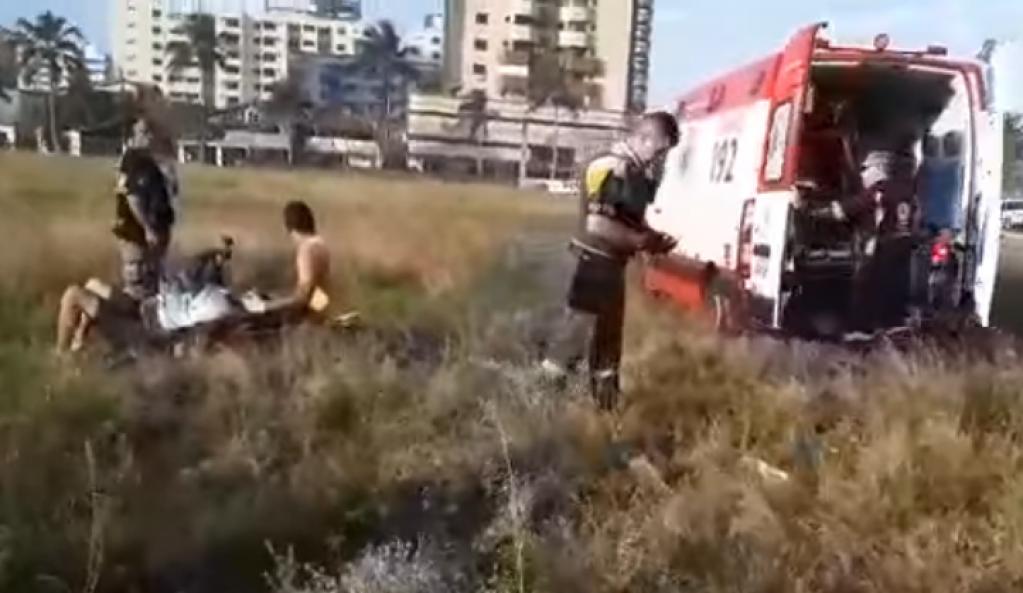 Giro Marília -Linha com cerol derruba paraglider no litoral de São Paulo
