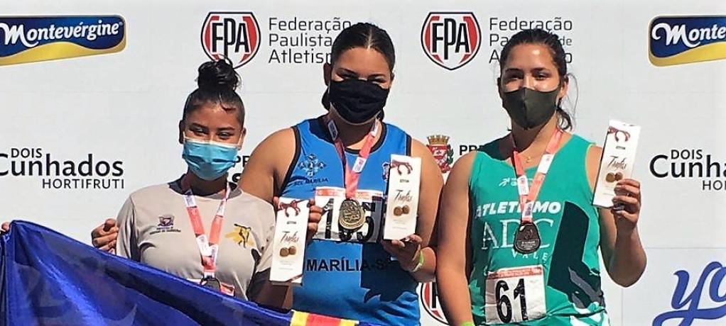 Giro Marília -Sub-18 garante Marília no pódio do Paulista Sub-20 de atletismo