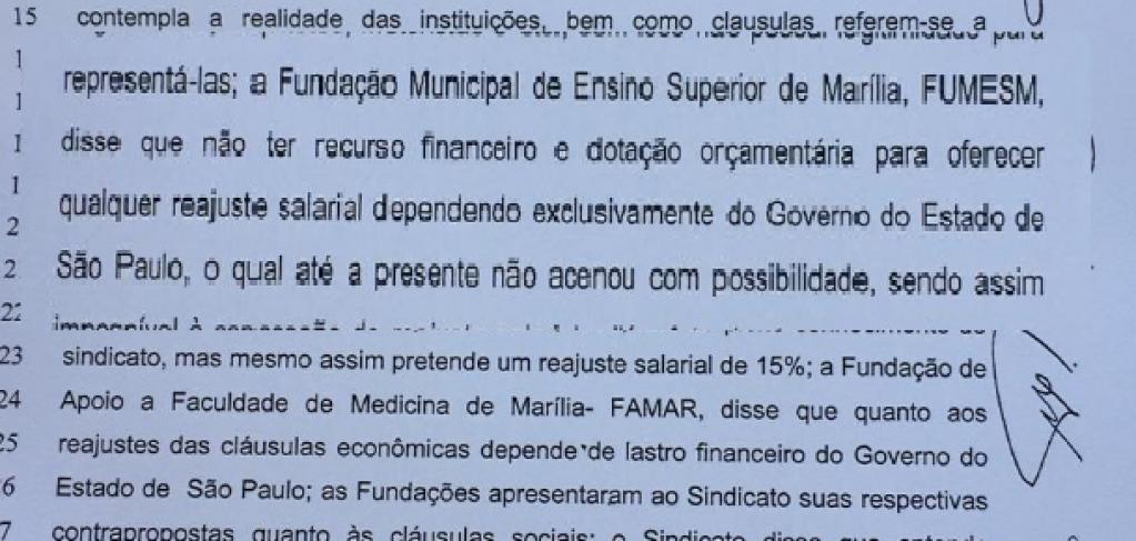 Giro Marília -Campanha salarial na Famema emperra à espera de repasse do Estado
