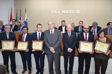 Giro Marília -Diretoria da OAB toma posse com presidente estadual e homenagem