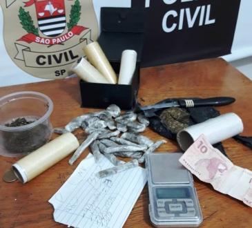 Giro Marília -Dise apreende drogas e menor acusado de tráfico na zona norte de Marília