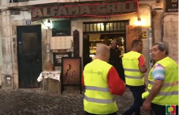 Giro Marília -   Marilienses mostram evacuação de centro turístico por tempestade em Portugal