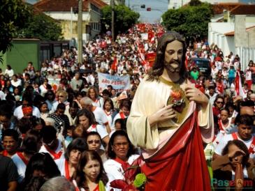 Giro Marília -Romaria do Apostolado da Oração reúne até 3.000 fiéis em Vera Cruz