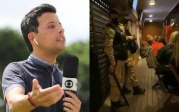 """Giro Marília -Repórter da Globo detona """"torcida"""" para não deixar bar; assista"""