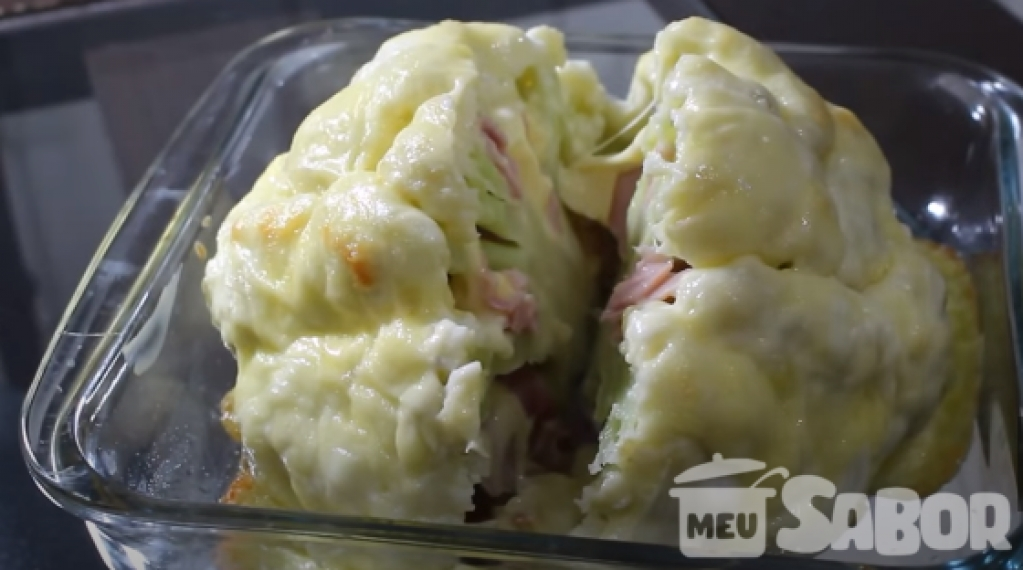 Giro Marília -Aposto que você vai se apaixonar em comer couve-flor recheada! Muito gostoso, experimente!