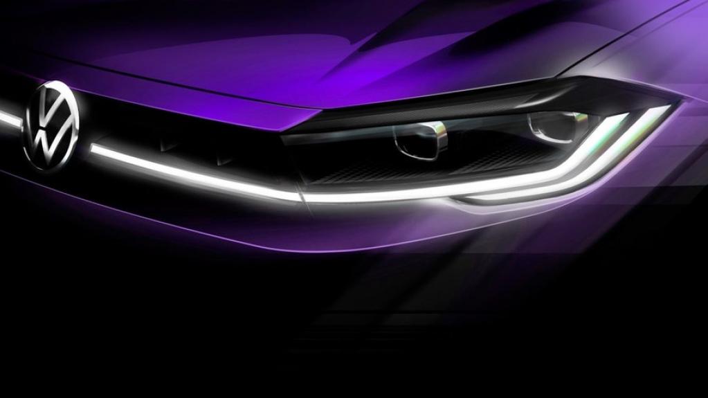 Giro Marília -VW revela teaser da frente da versão renovada do Polo
