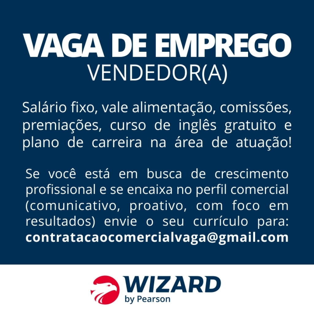 Giro Marília -Wizard oferece vaga de emprego; salário e benefícios