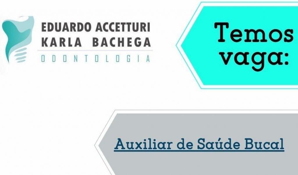 Giro Marília -Clínica de Odontologia contrata Auxiliar de Saúde Bucal em Marília