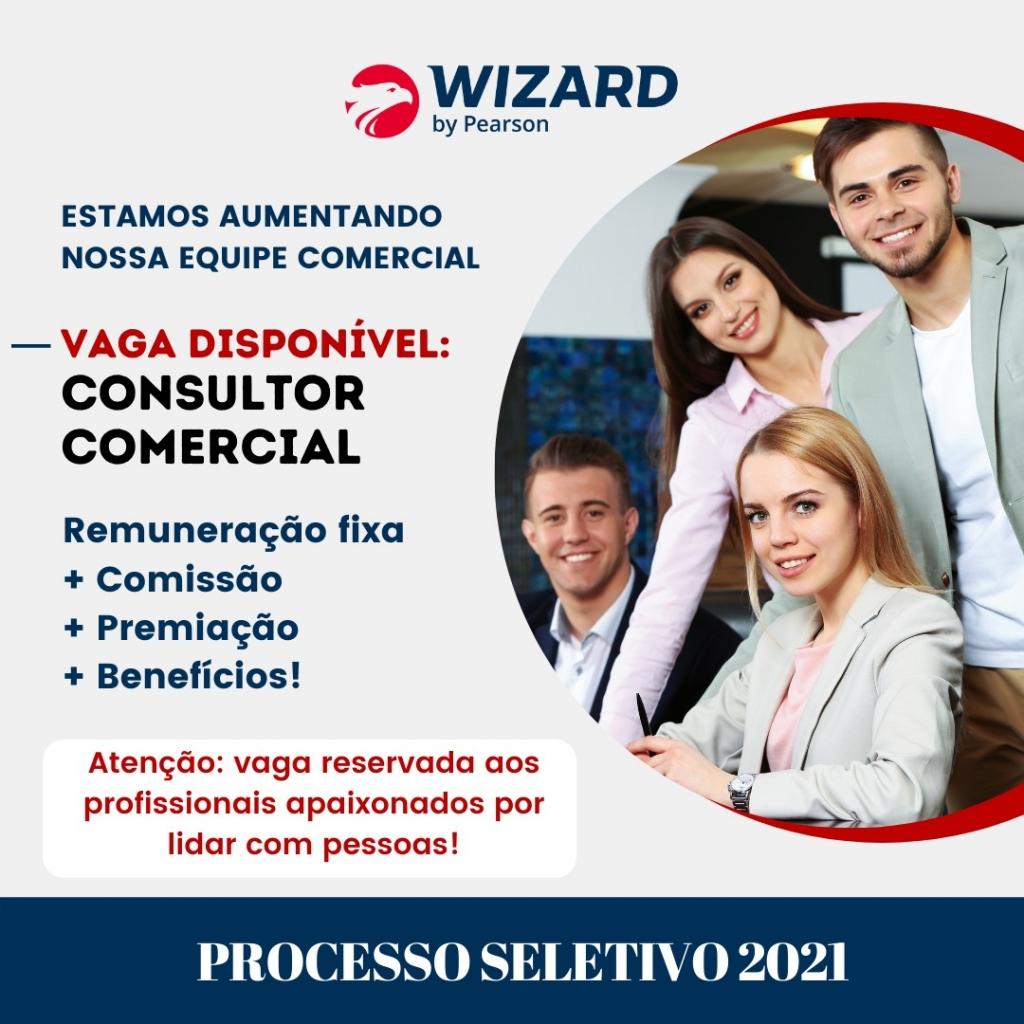 Giro Marília -Wizard Marília contrata consultor(a) comercial